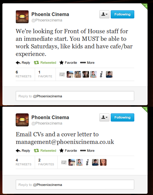 Phoenix Cinema tweet